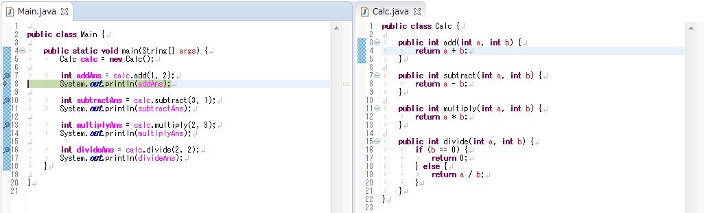 Eclipse,Java,デバッグ,ステップオーバー